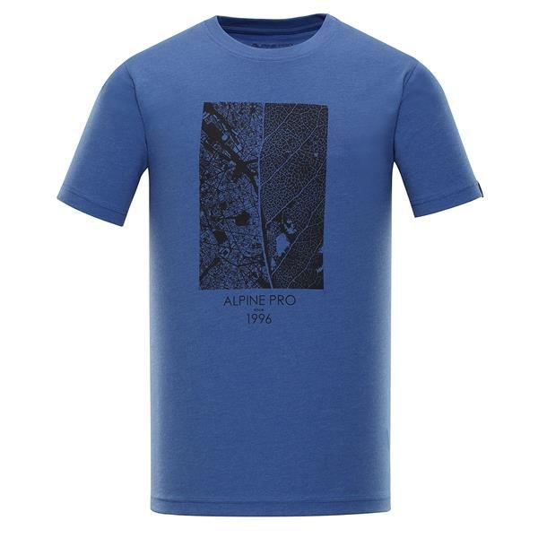 Modré pánské tričko s krátkým rukávem Alpine Pro - velikost S