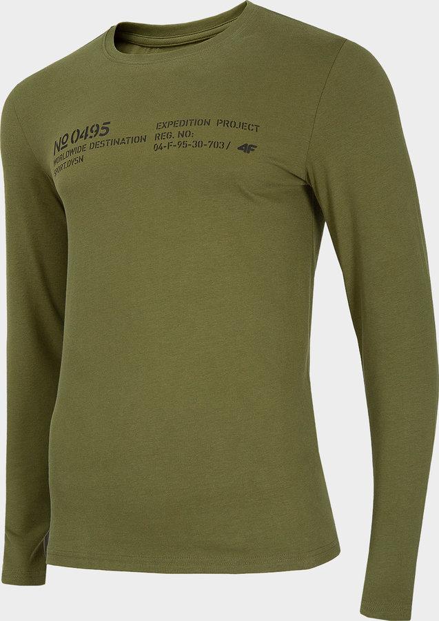 Zelené pánské tričko s dlouhým rukávem 4F