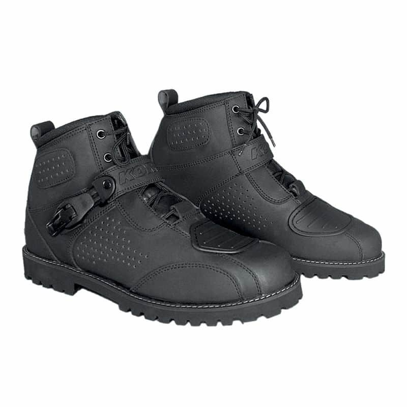 Černé nízké motorkářské boty Icone, Kore