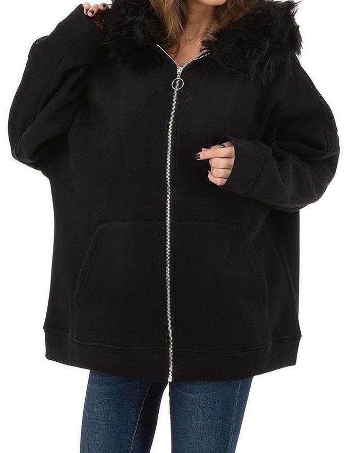 Černá dámská bunda - velikost S