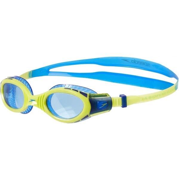 Modro-zelené závodní pánské plavecké brýle Speedo
