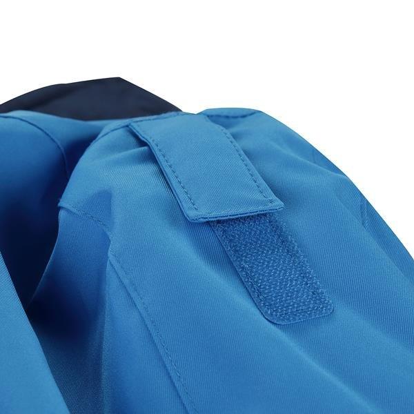 Modro-šedá dětská zimní bunda s kapucí Alpine Pro - velikost 116-122