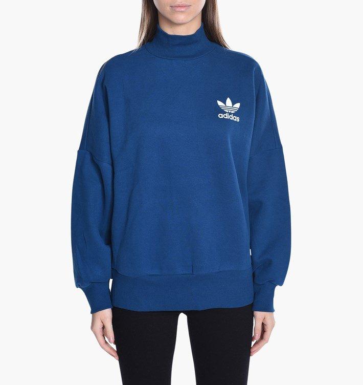Modrá dámská mikina Adidas - velikost S