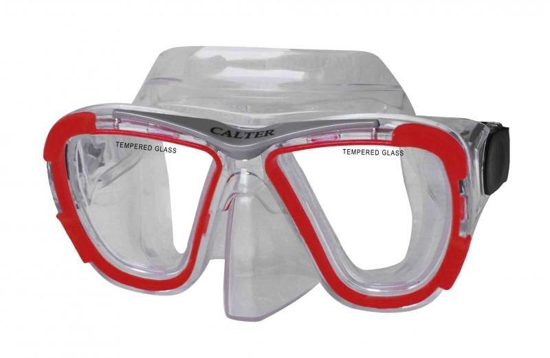 Potápěčská maska - Potápěčská maska CALTER SENIOR 238P, červená