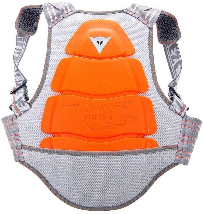 Oranžovo-šedý dětský chránič páteře na lyže Dainese - velikost L