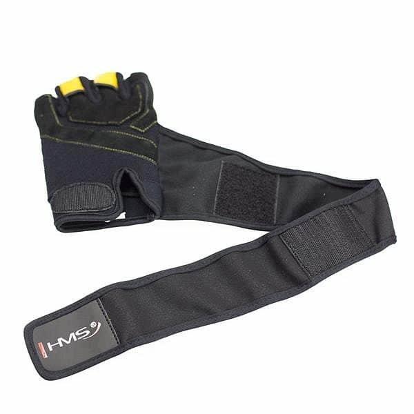 Černé fitness rukavice HMS - velikost XXL