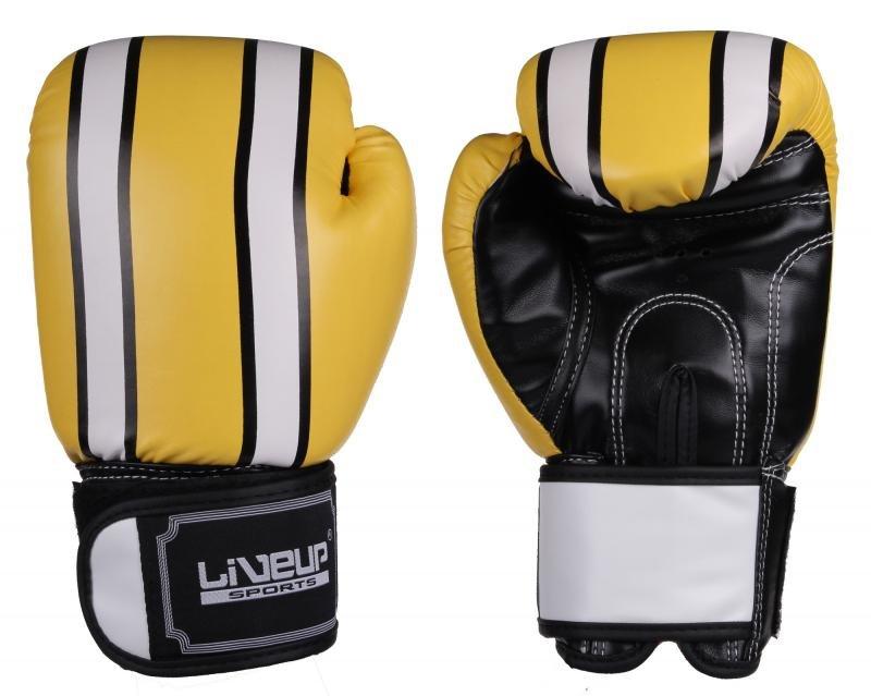 Bílé boxerské rukavice LiveUp - velikost 10 oz