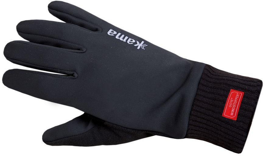 Černé zimní dámské běžecké rukavice Kama - velikost M