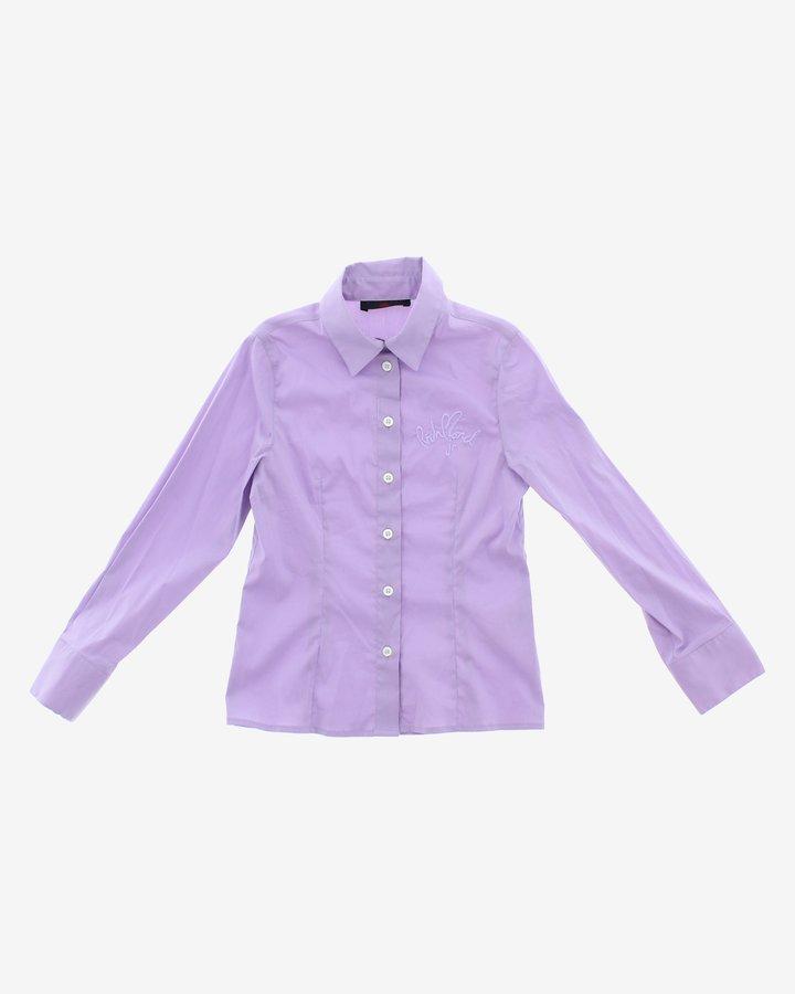 Fialová dívčí košile s dlouhým rukávem John Richmond - velikost 116