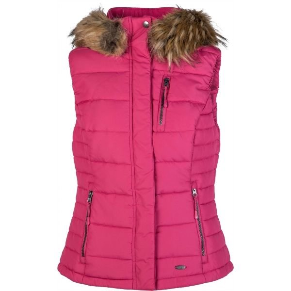 Růžová dámská vesta Willard