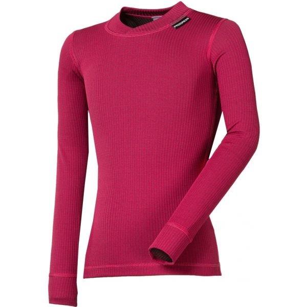 Růžové dívčí funkční tričko s dlouhým rukávem Progress