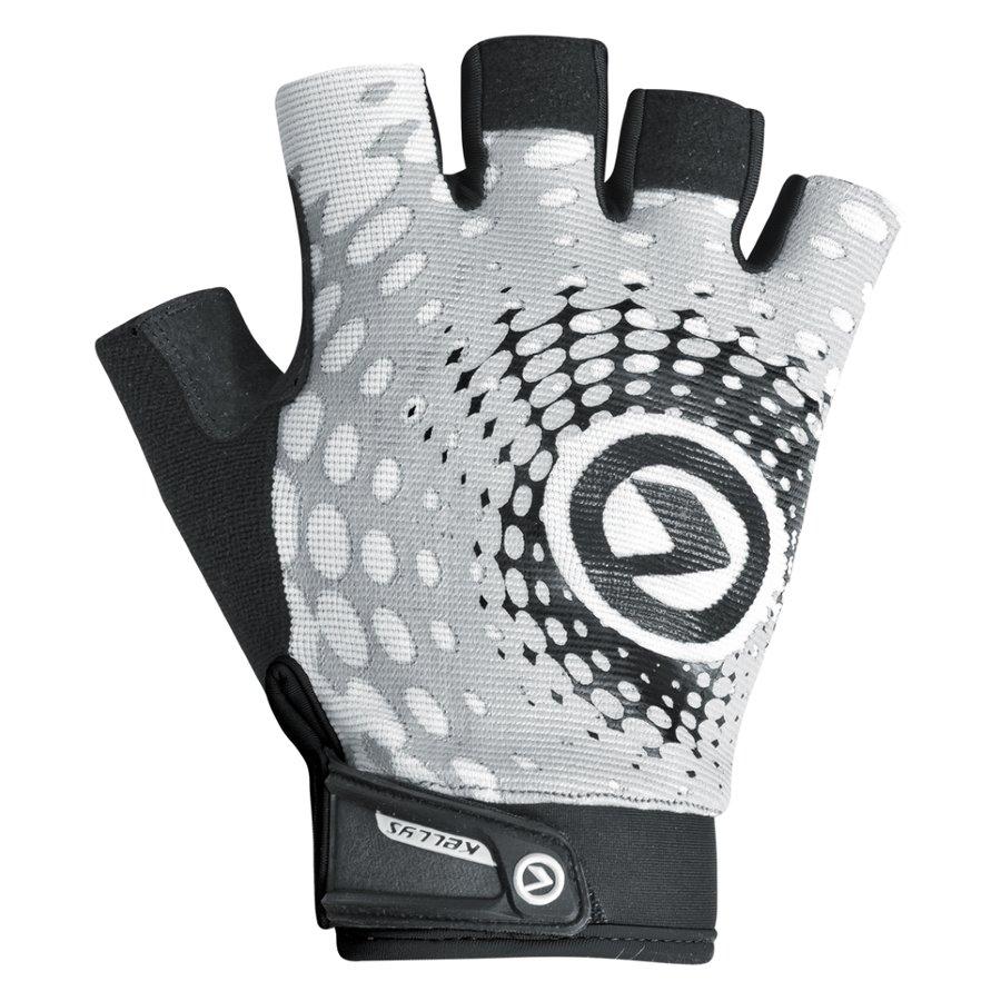 Černo-šedé pánské cyklistické rukavice Impact Short, Kellys - velikost S