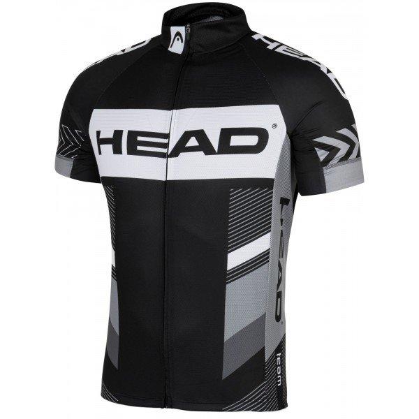 Černo-šedý pánský cyklistický dres Head - velikost XL