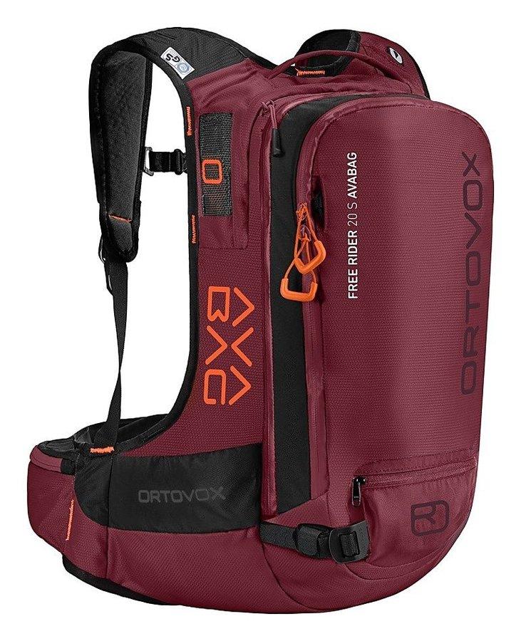 Červený lavinový skialpový batoh Ortovox - objem 20 l