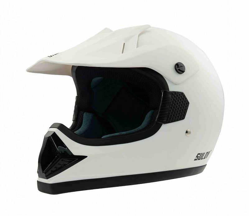 Bílá helma na motorku Sulov