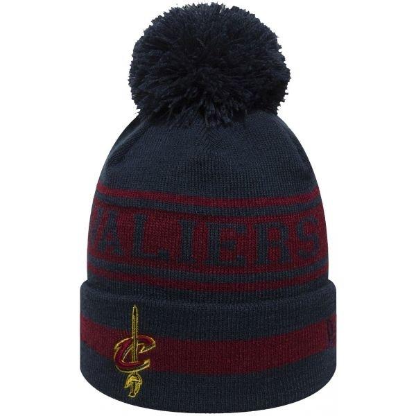 Červeno-modrá pánská zimní čepice New Era