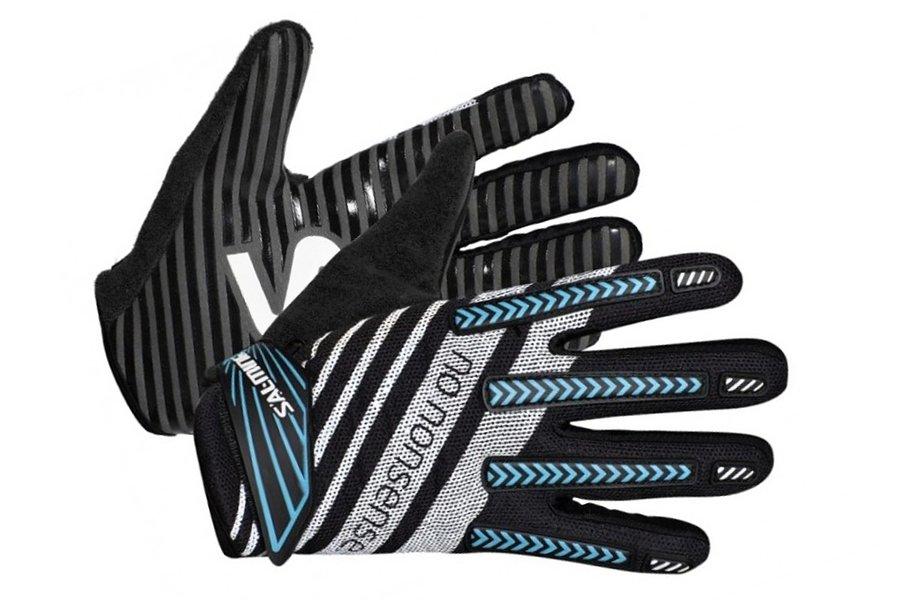 Bílo-černé brankářské florbalové rukavice ProGrip, Salming