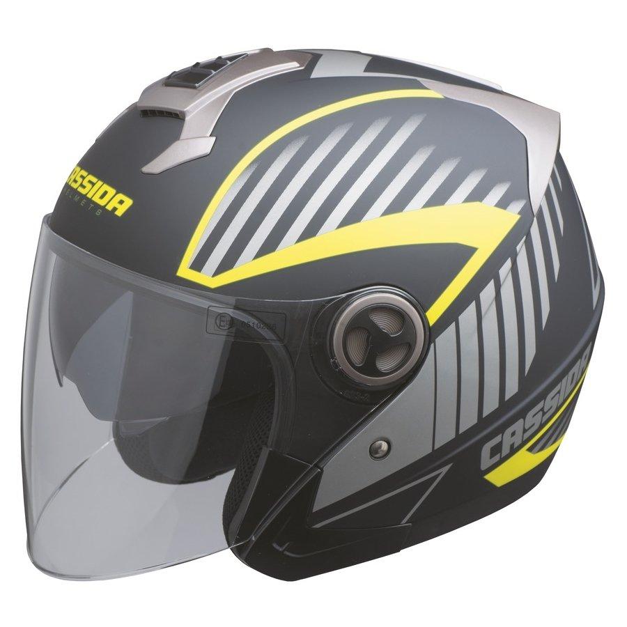 Černo-žlutá unisex helma na motorku Magnum, Cassida