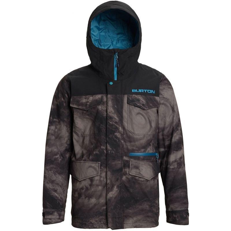 Černo-šedá pánská snowboardová bunda Burton