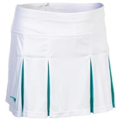 Bílá dívčí tenisová sukně Artengo - velikost 151