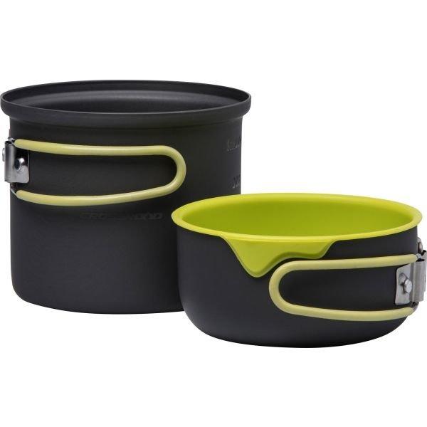 Kempingové nádobí - Crossroad LONER 2 černá - Dvoudílný set kempingového nádobí