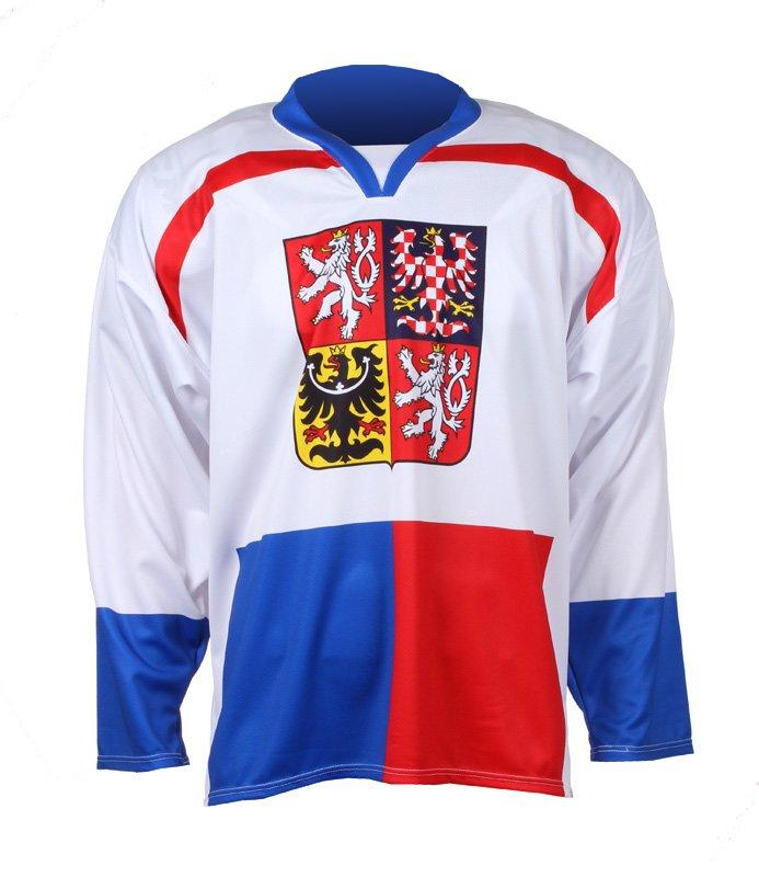 Bílý unisex hokejový dres Replika ČR Nagano 1998, Merco