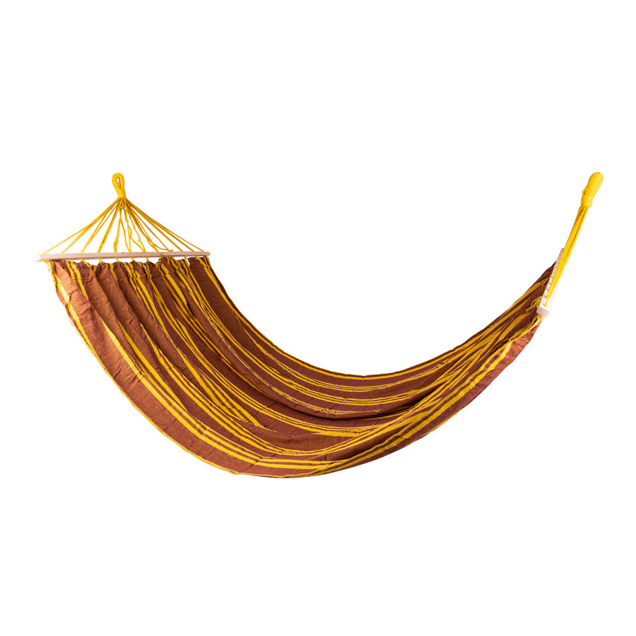 Hnědo-žlutá houpací síť pro 2 osoby Maxy, Worker