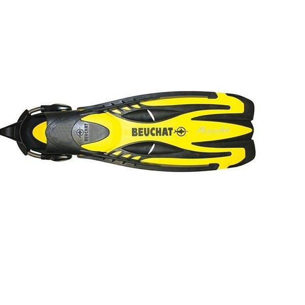 Žluté dlouhé potápěčské ploutve Power Jet ADJ, Beuchat - velikost 44-47 EU