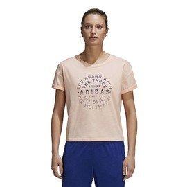 Béžové dámské tričko s krátkým rukávem Adidas