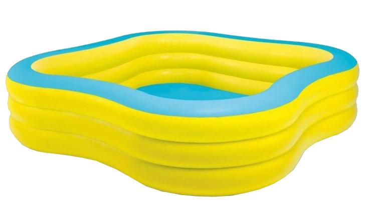 Nadzemní nafukovací dětský čtvercový bazén INTEX - délka 229 cm, šířka 229 cm a výška 56 cm