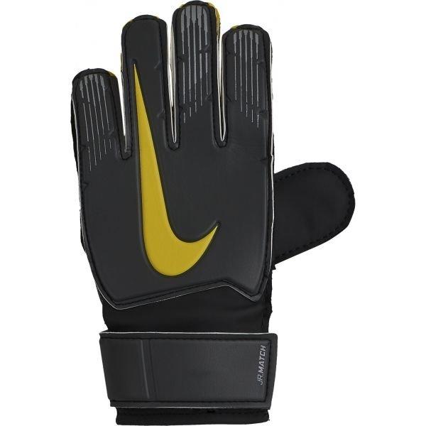 Šedé dětské brankářské fotbalové rukavice Nike