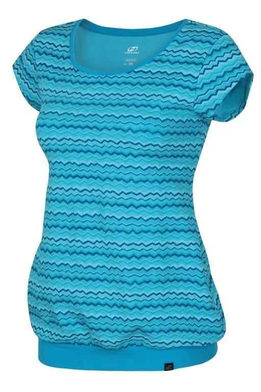 Modré dámské tričko s krátkým rukávem Hannah - velikost 36