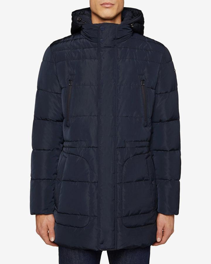 Modrá prošívaná pánská bunda Geox