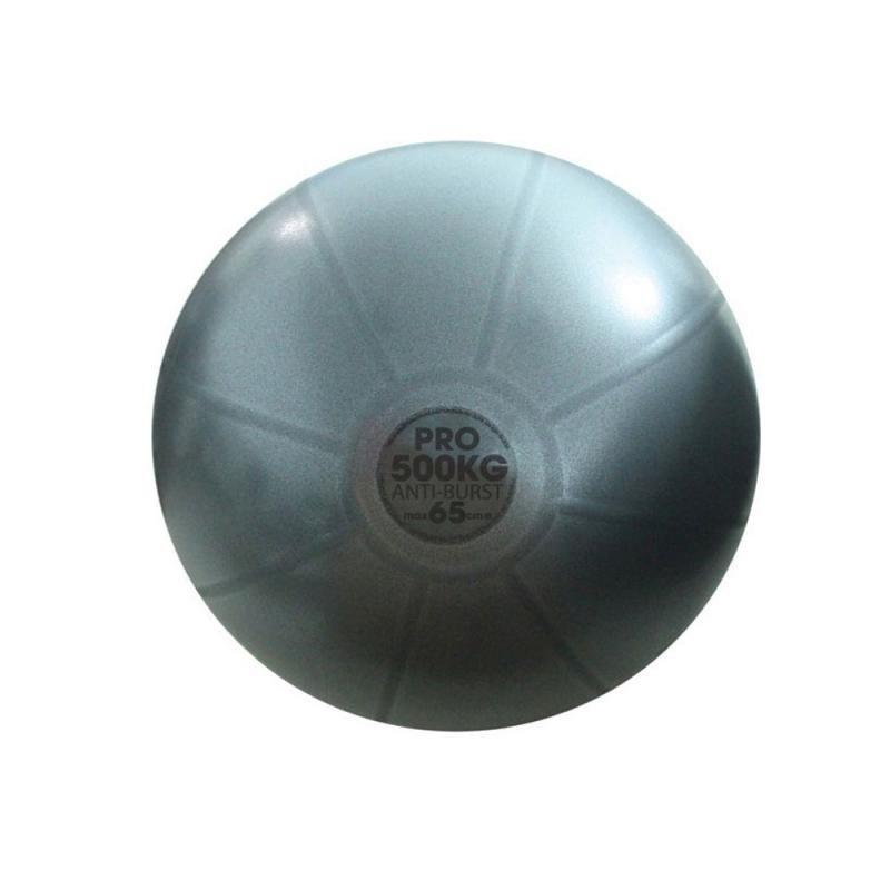 Šedý gymnastický míč PowerBlock - průměr 65 cm