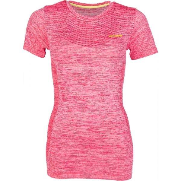 Růžové dámské funkční tričko s krátkým rukávem Arcore