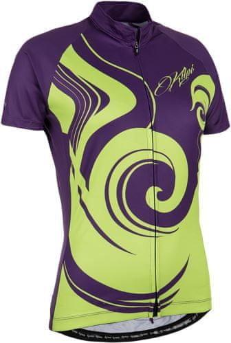 Fialovo-zelený dámský cyklistický dres Kilpi