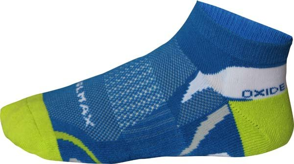 Modro-zelené kotníkové pánské běžecké ponožky Oxide - velikost 35-38 EU