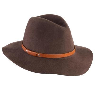 Hnědý dámský lovecký klobouk Solognac - velikost 60 cm