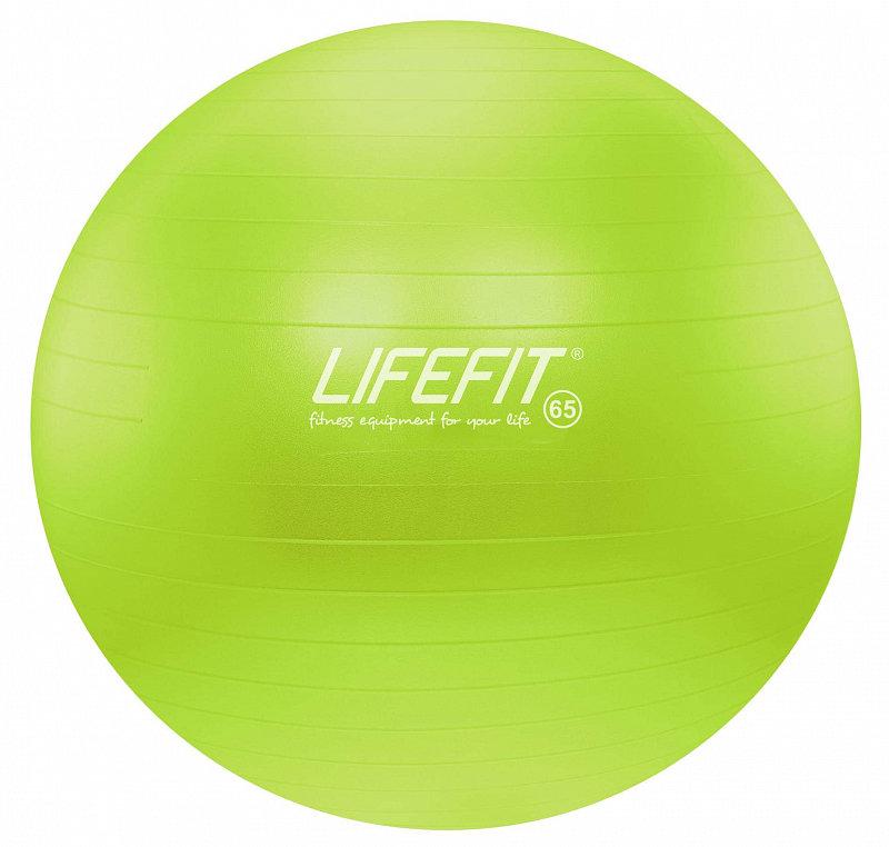 Zelený gymnastický míč ANTI-BURST, Lifefit - průměr 65 cm