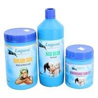 Bazénová chemie - V. Set chemie pro odstranění zákalu vody (Chlor Šok, Algicid ALG Blue, Vločkovací tablety)
