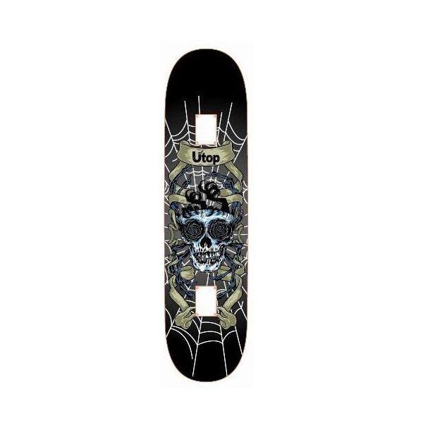 Černý skateboard Spartan - délka 78 cm a šířka 20 cm