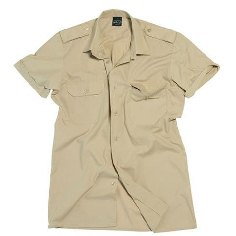 Khaki pánská košile s krátkým rukávem MIL-TEC