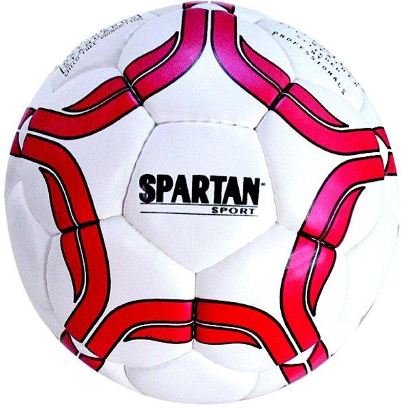 Bílo-červený fotbalový míč Spartan