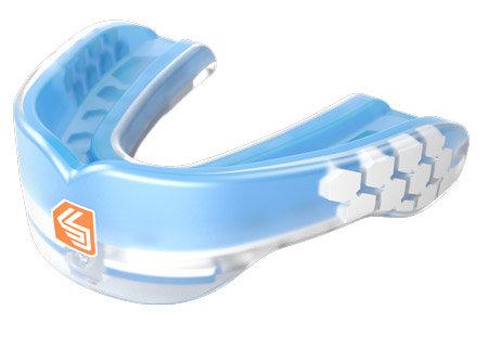 Modrý chránič na zuby na hokej Shock Doctor