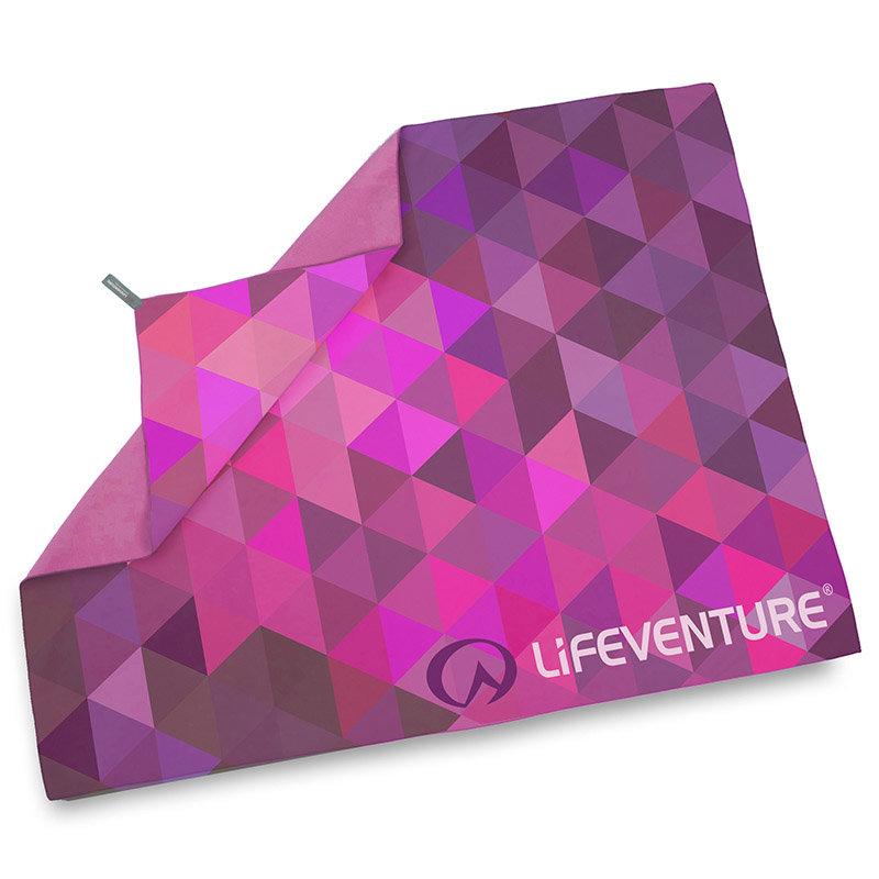 Růžový rychleschnoucí ručník Lifeventure