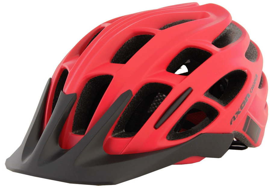 Červená cyklistická helma Axon - velikost 58-61 cm