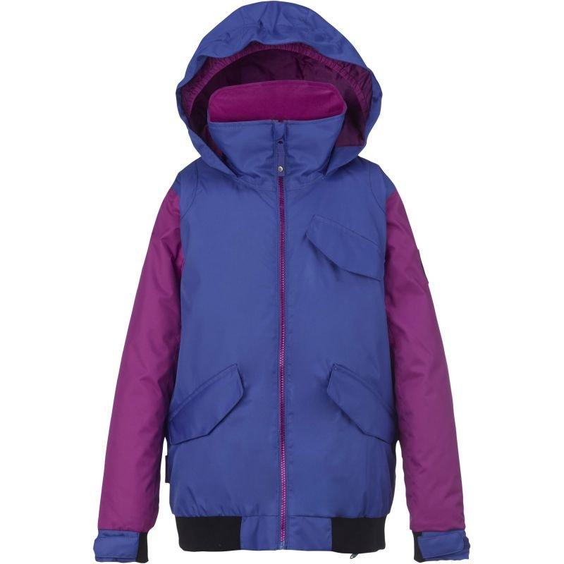 Fialovo-modrá dětská snowboardová bunda Burton - velikost XL