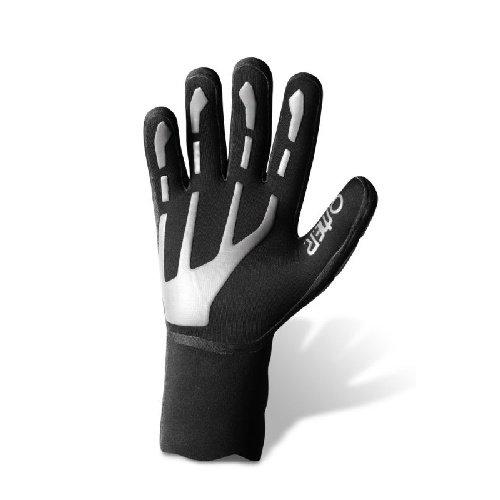 Bílo-černé neoprenové rukavice Spider, Omer