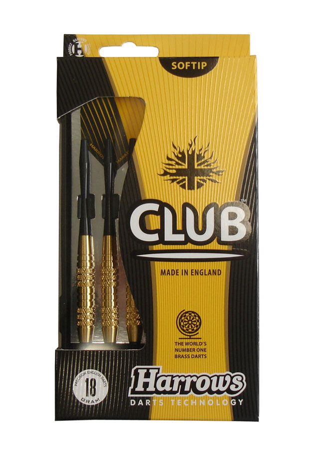 Šipky - Šipky Harrows soft Club Brass T12 Váha: 14 g
