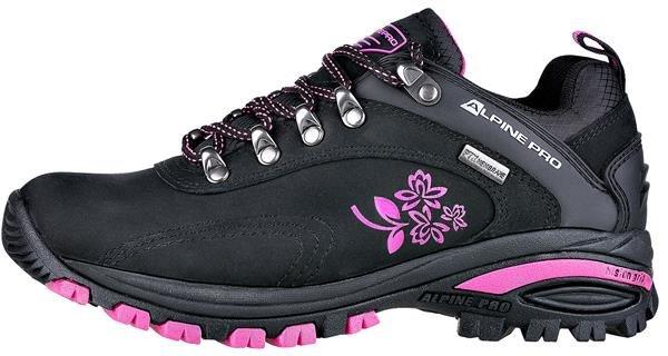 Černo-růžové dámské trekové boty - obuv Alpine Pro